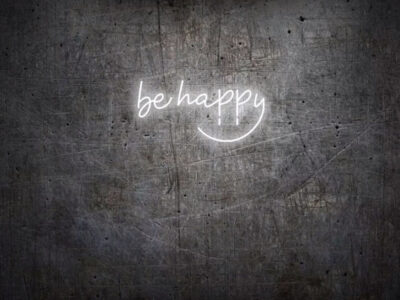 Be Happy Sign Board