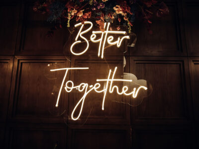 Better Together sign for Weddings