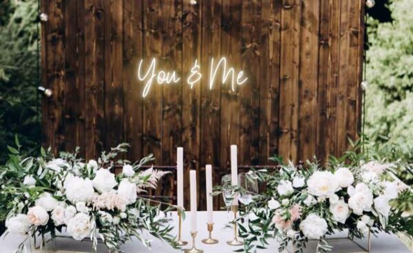 You and Me Sign Board